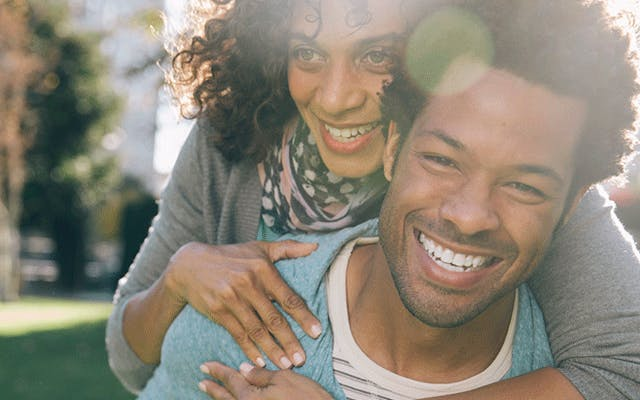 photo of happy man and woman