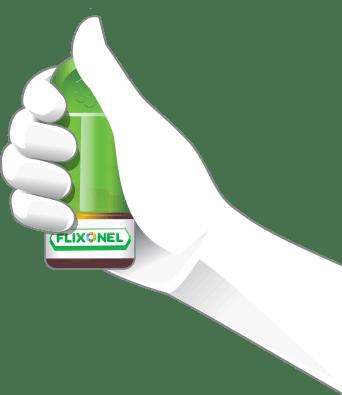 Ruka držiaca Flixonel