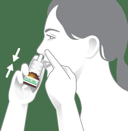 Ukážka vstrieknutia do nosa