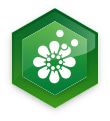 ikona květiny s pylem