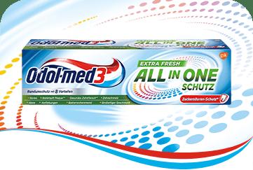 Odol-med3 All in One Schutz Extra Fresh Zahnpasta.
