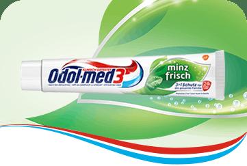 Odol-med3 Minzfrisch Zahnpasta.