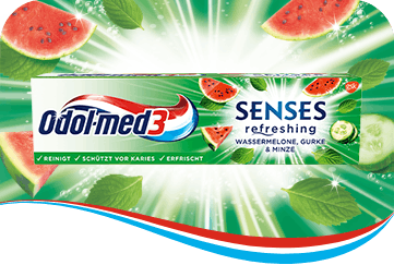 Odol-med3 Senes Wassermelone Zahnpasta.