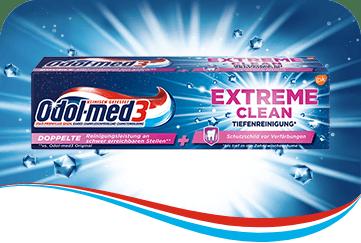 Odol-med3 Extreme Clean Tiefenreinigung Zahnpasta.