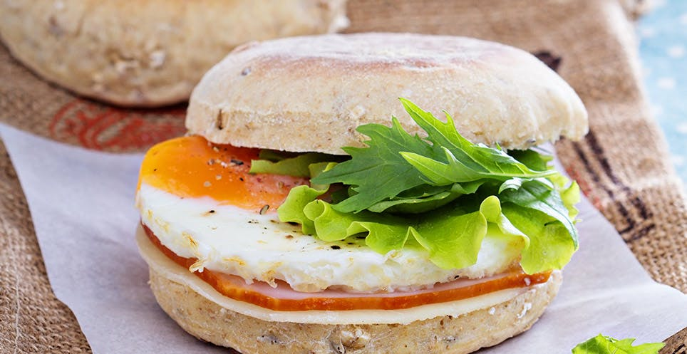 Eggs on Whole Wheat English Muffin