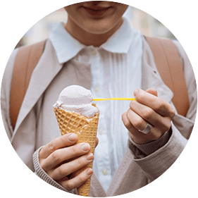 Woman and Ice Cream