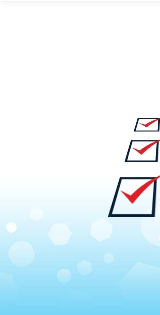 Checklist icon with blue background