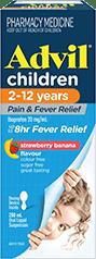Advil Children 2-12 Years Pain & Fever Relief Suspension