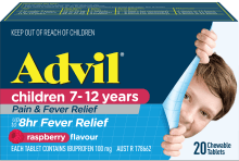 Advil Children 7-12 Years Pain & Fever Relief Chewable Tablet