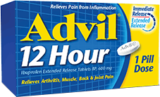 Product package of Advil 12 Hour