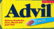 Advil Caplets package design