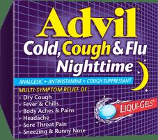 Advil Cold, Cough & Flu Nighttime package design
