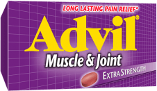 Advil Muscle & Joint package design
