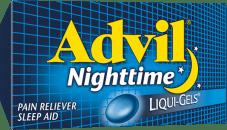 Advil Nighttime package design