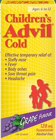 Children's Advil Cold Suspension package design