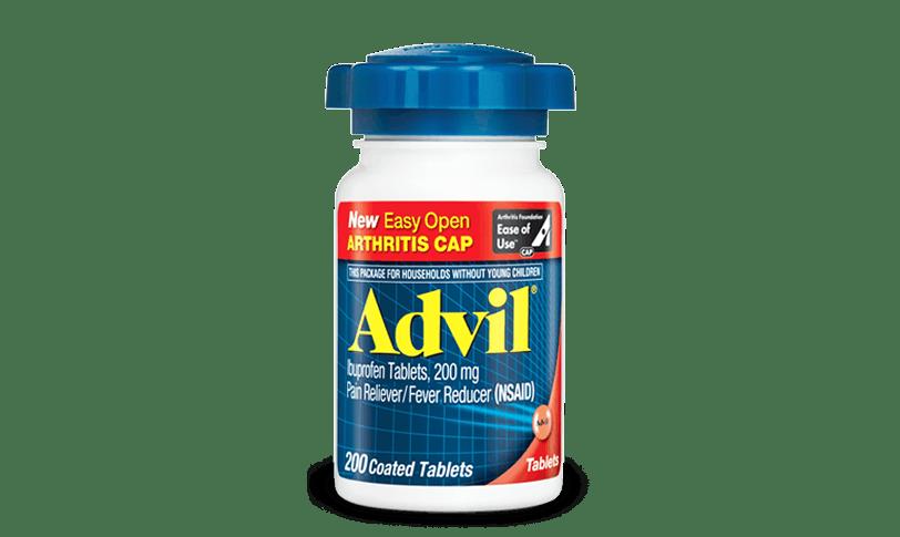 Advil Easy Open Arthritis Cap for minor arthritis pain relief