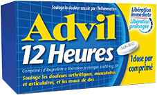 Product package of Advil 12 Heures