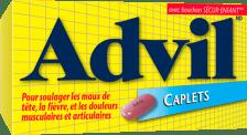 Caplets Advil package design