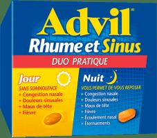 Advil Rhume et Sinus Jour et Nuit package design