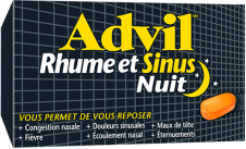 Advil Rhume et Sinus Nuit package design