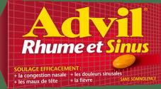 Caplets Advil Rhume et Sinus package design
