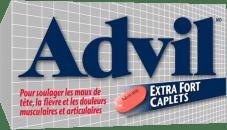 Caplets Advil Extra Fort package design