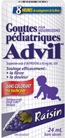 Gouttes pédiatriques Advil package design