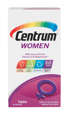 Centrum Women package design