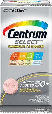 Centrum Select 50+ Chewables package design