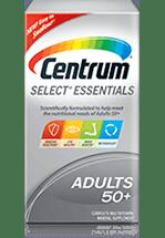 Centrum Select Essentials 50+ package design