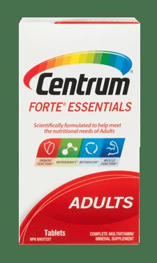 Centrum Forte Essentials package design