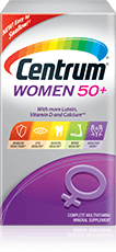 Centrum Women 50+ package design