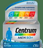 Product visual of Centrum Men 50+