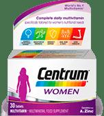 Product visual of Centrum Women