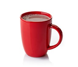 Cran-Pom Holiday Cocoa drink in red mug