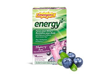 Package of Emergen-C Energy+ Blueberry Acai