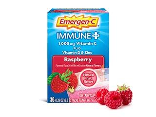 Package of Emergen-C Immune+ Raspberry