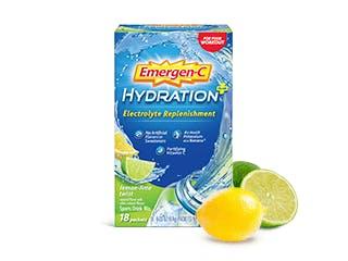 Package of Emergen-C Hydration+ Lemon-Lime