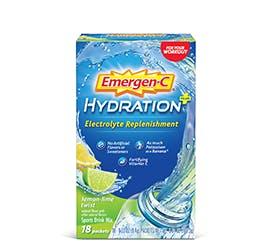 Box of Emergen-C Hydration Electrolyte Replenishment in Lemon-Lime Twist