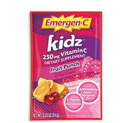 Packet of Emergen-C Kidz in Fruit Punch