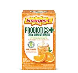 Box of Emergen-C Probiotics+ Super Orange