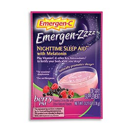 Packet of Emergen-Zzzz Nighttime Sleep Aid with Melatonin in Berry PM