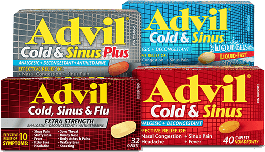 Advil Cold & Sinus Brand Cluster