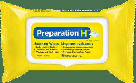 Preparation H Soothing Wipes Packshot
