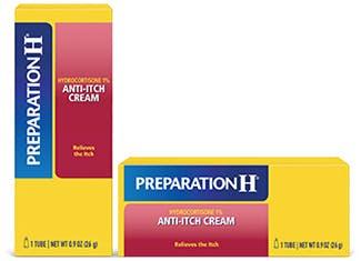 Preparation H Anti-Itch Cream Hydrocortisone 1%