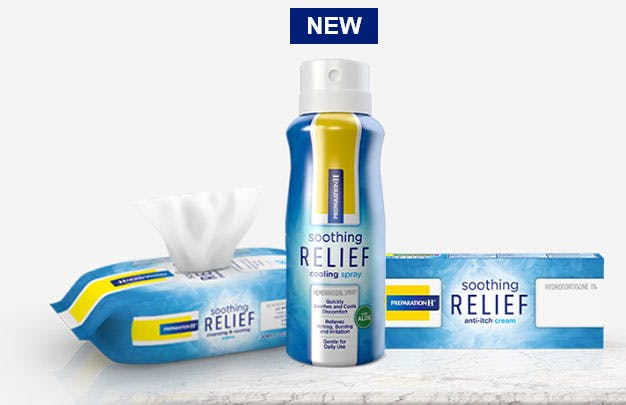 Preparation H Soothing Relief Cleansing and Cooling Wipes and Anti-Itch Cream