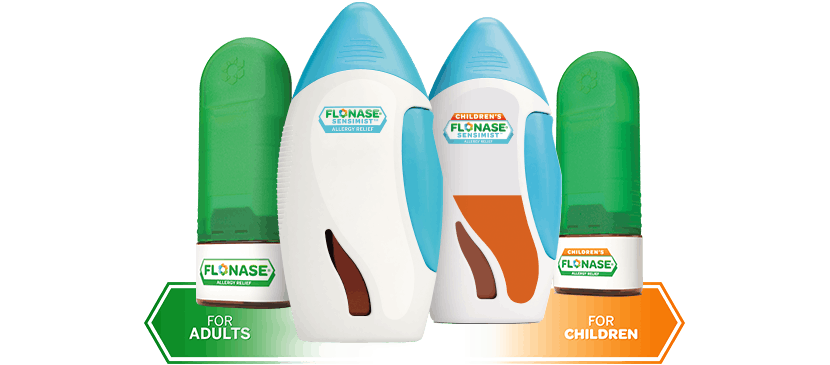 flonase allergy relief and flonase sensimist allergy relief product images