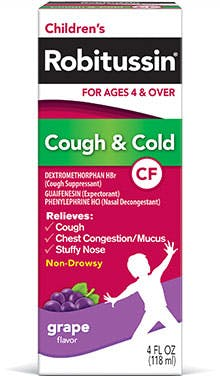 Product childrens cough cold cf