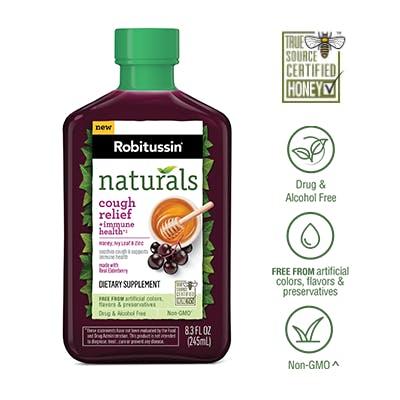 Naturals Cough Relief + Immune Health††* Dietary Supplement