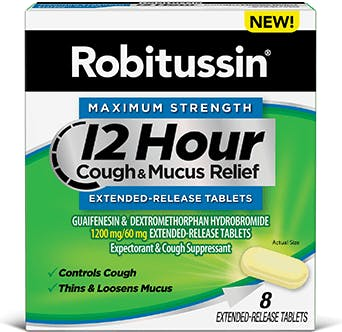 MAXIMUM STRENGTH 12 HOUR COUGH & MUCUS EXTENDED-RELEASE TABLETS